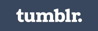 この画像には alt 属性が指定されておらず、ファイル名は tumblr-logotype-whiteonblue-512-400x128.png です